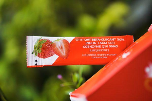 strawberry cholesterolow sachet