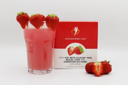 Supplement that lowers cholesterol in a a strawberry flavour