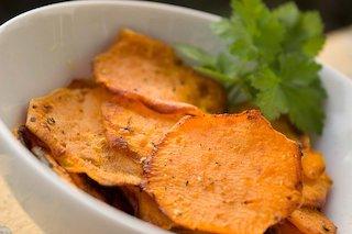 healthy snack sweet potatoe chips