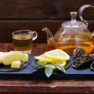 honey tea for health and cough